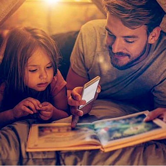 Quarantined days look like this ❤️ Fathers at home with the kids are being more hands-on than ever, which is a great thing. 🙌 Our hearts are full of love watching the wonderful posts and videos of dads reading to their children. We