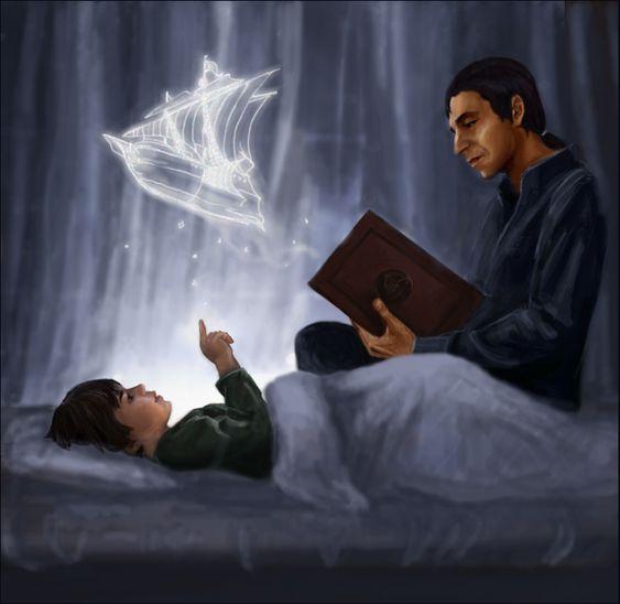 """""""Сказка на ночь"""" от Borgia (Гарри Поттер, Северус Снейп)"""