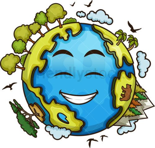 Healthy Earth Cartoon Vector Clipart - FriendlyStock