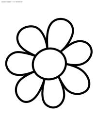 Раскраски цветов для маленьких детей. Раскраски для детей ...