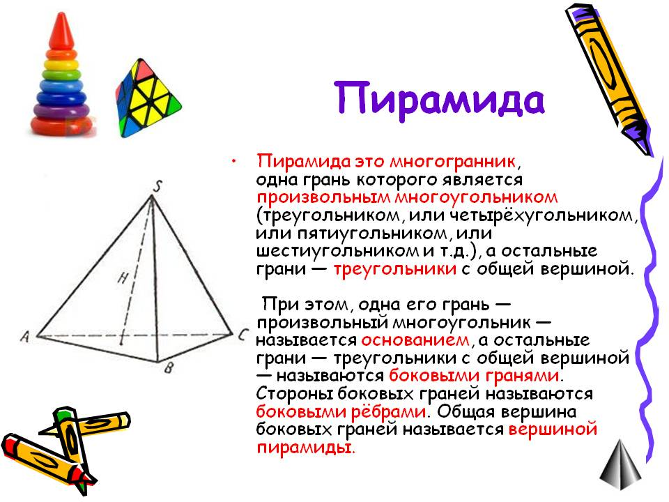 Что такое пирамида? - Описание фигуры