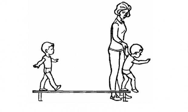 Ходьба по скамейкам
