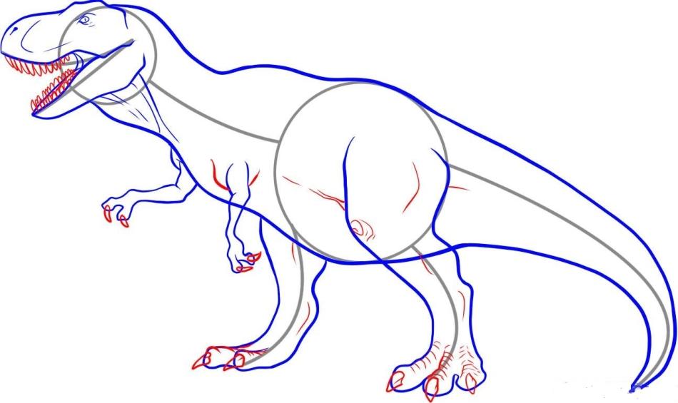 легкие рисунки динозавров карандашом ведут участницы