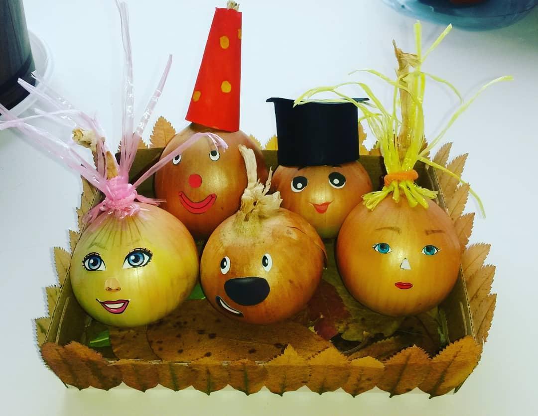 Поделки из овощей на золотую осень картинки