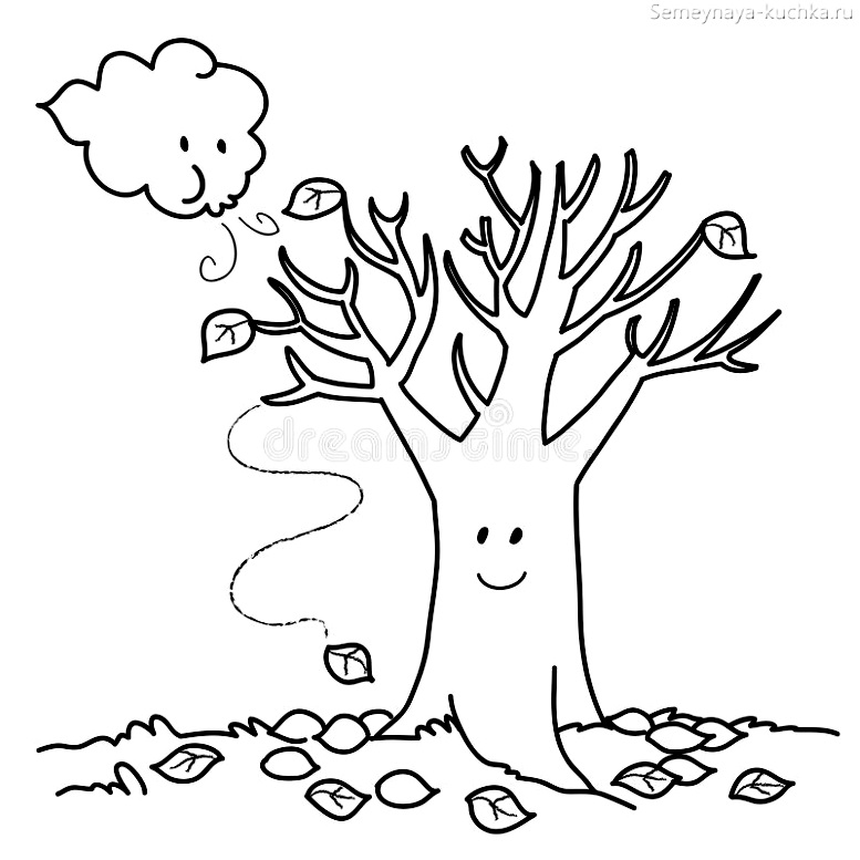 Шаблон Дерева Без Листьев Для Вырезания Из Бумаги ...