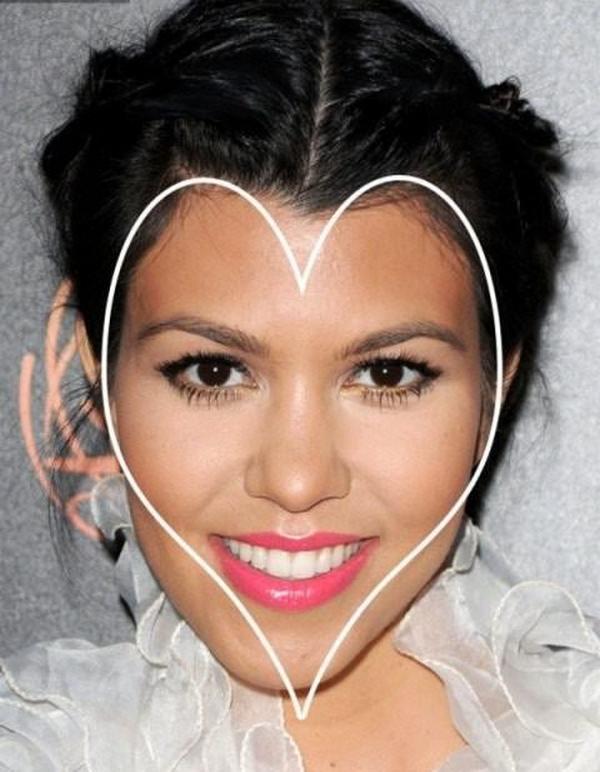 Форма лица сердечко фото