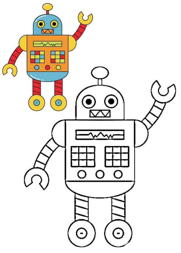 роботы разукрашки картинки вкус благодарность