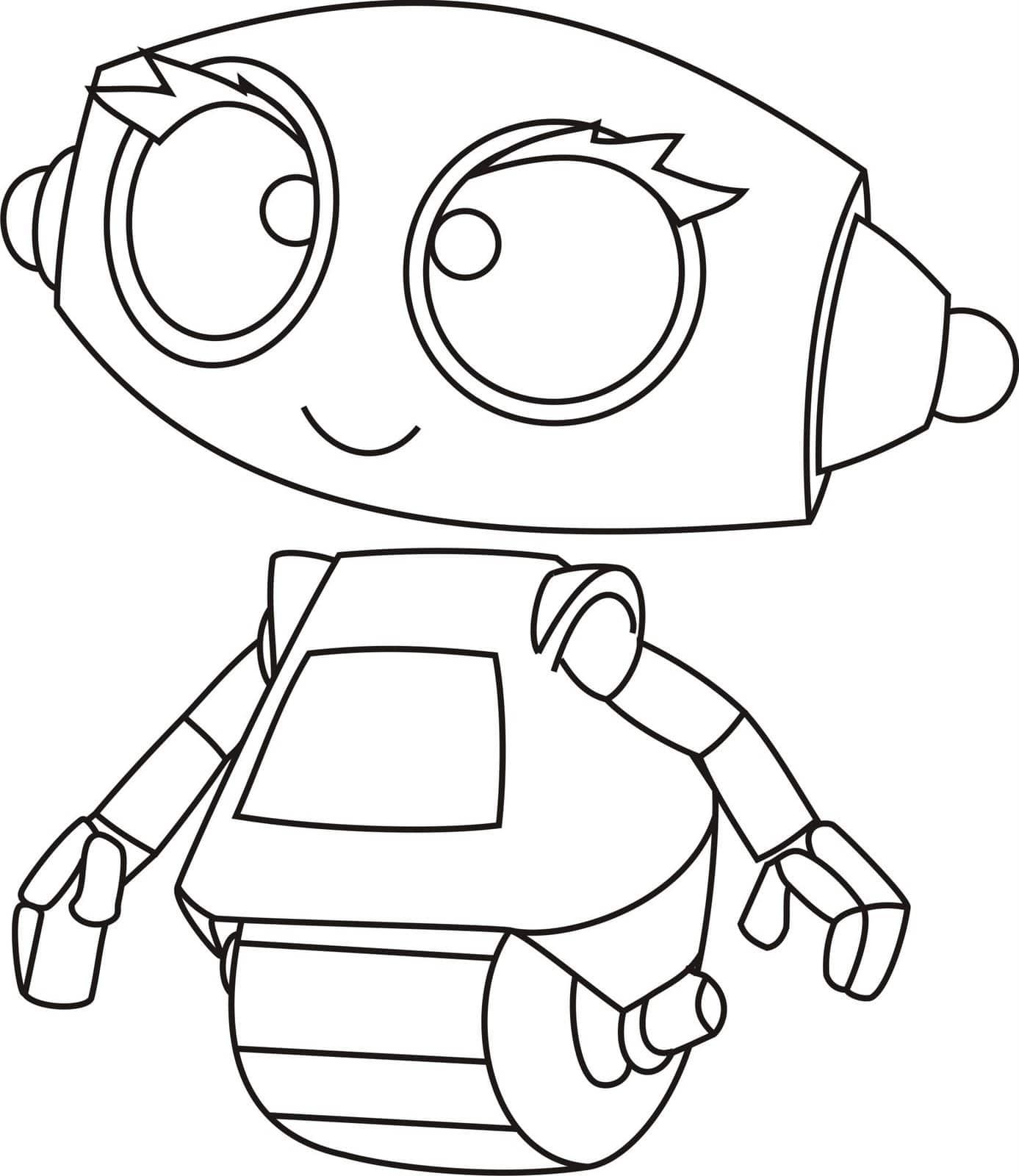 Роботы разукрашки картинки