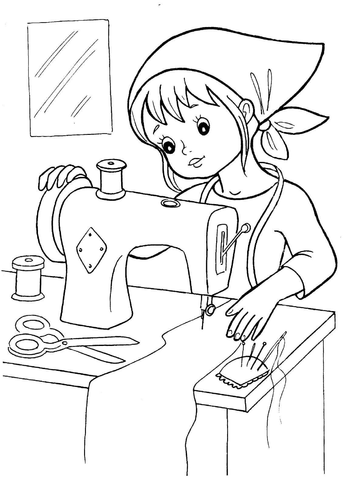 Картинки раскраски профессии для детей