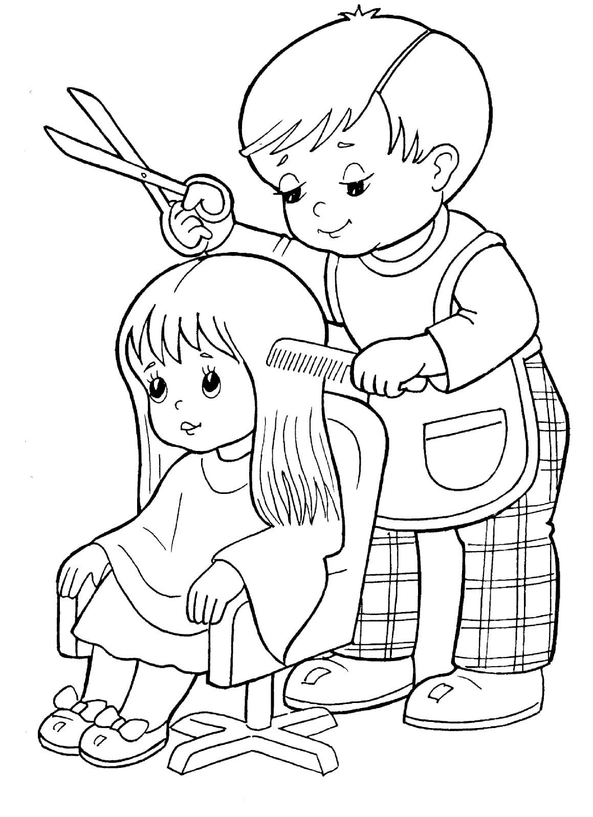 Картинки профессии для детей детского сада. Раскраски ...