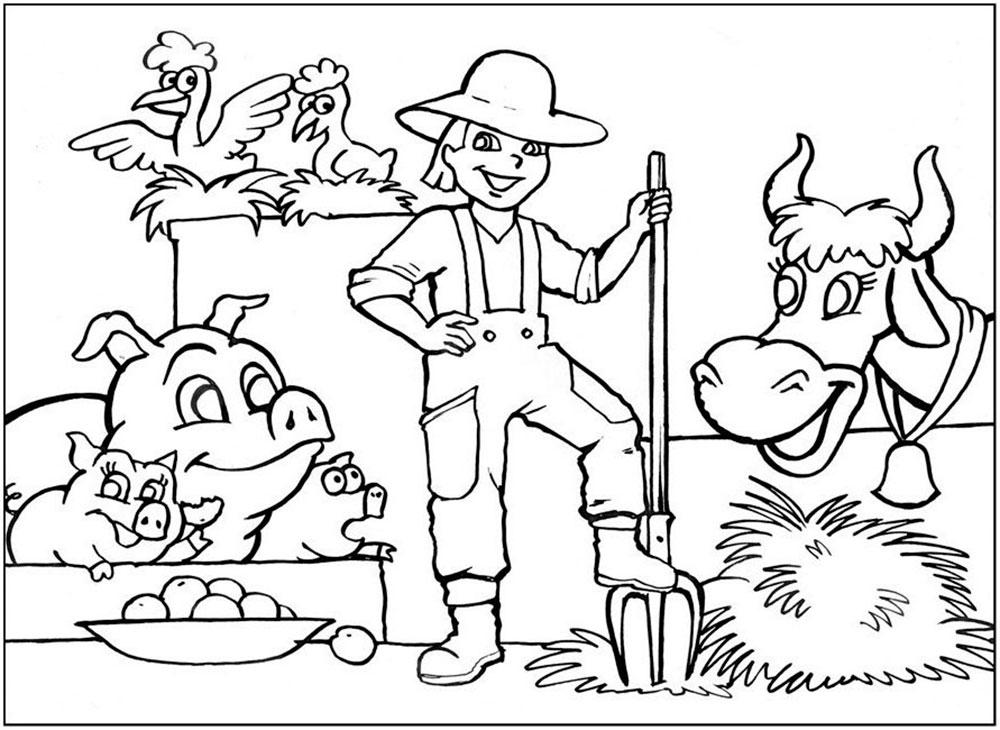 Фермер для детей картинки с пояснением распечатать