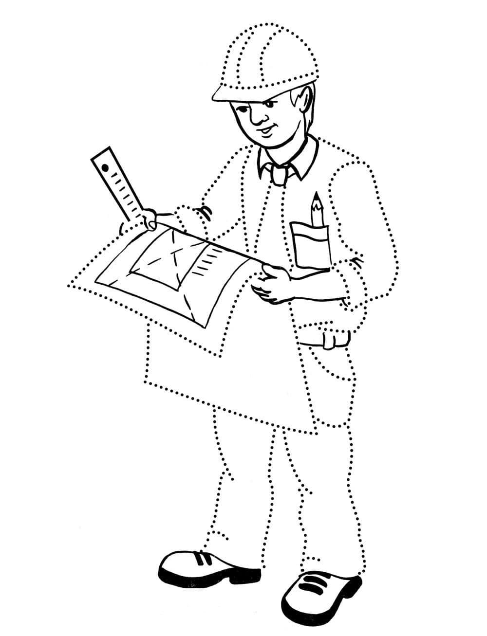 это еще рисунок профессия строитель нарисовать отлично прорабатывает грудь