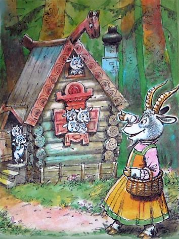 картинка избушка козы в лесу прекрасно справляется