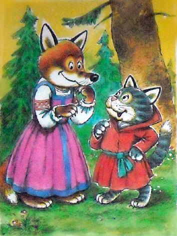 Картинки к сказки кот и лиса