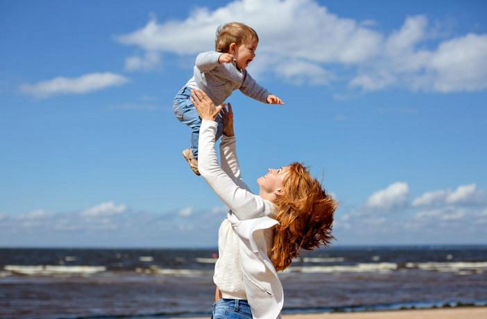 активный день с ребенком