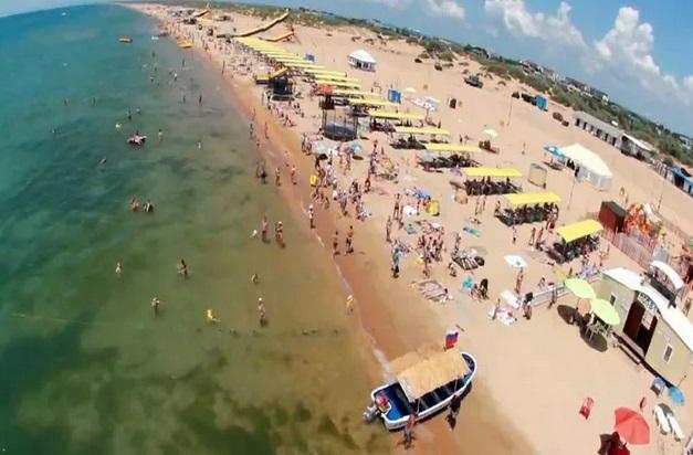 пляж в Витязево2