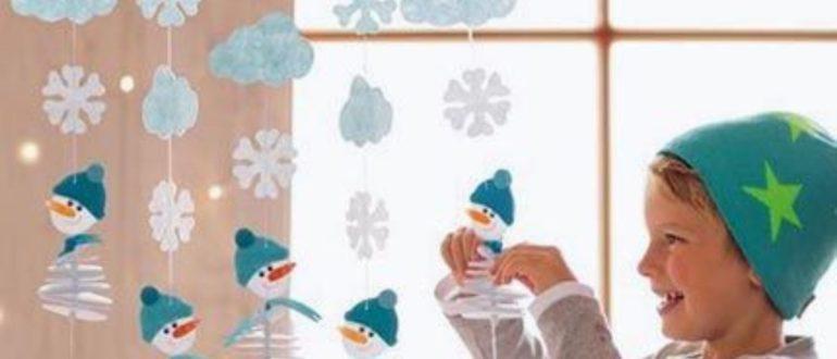 Гирлянды из снежинок, звездочек, с бахромой на Новый год