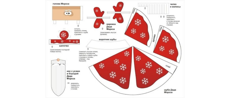 Как сделать из бумаги деда мороза: новогодние поделки своими руками