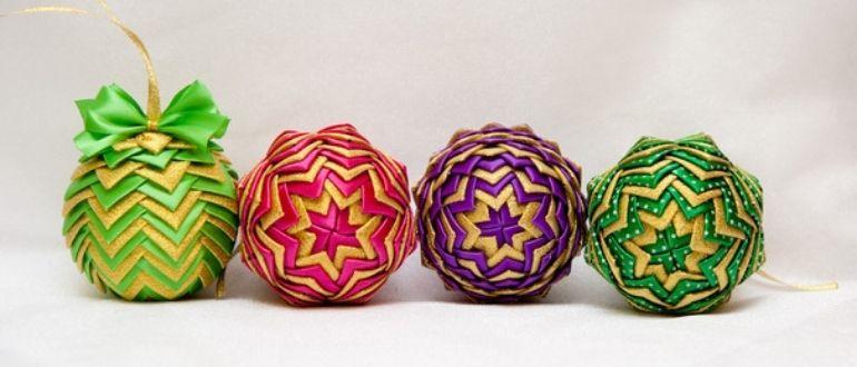 Как сделать шарики на новый год своими руками