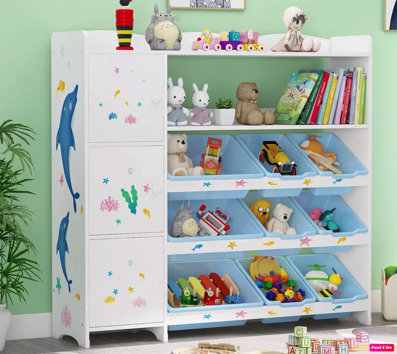 место для книг в детской