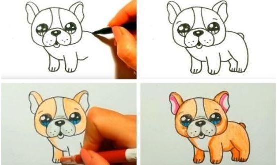 рисуем собаку поэтапно для детей