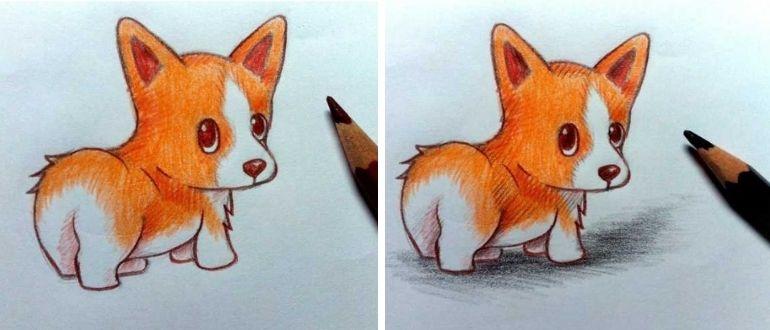 рисунок собаки для детей