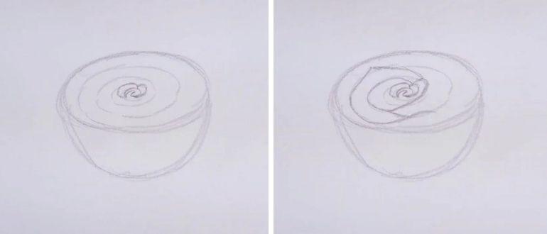 как нарисовать розочку