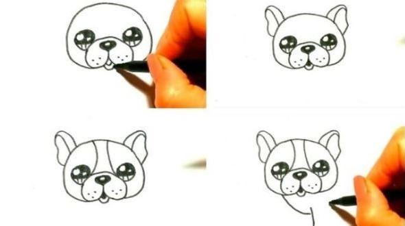 как нарисовать собаку ребенку